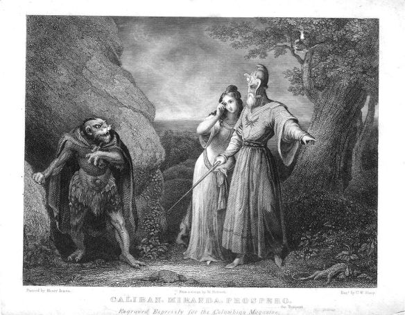 Prospero Caliban and Miranda